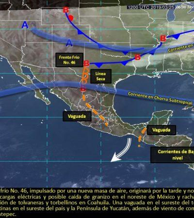 Tendrá Quintana Roo un lunes caluroso con nublados y posibilidad de lluvias