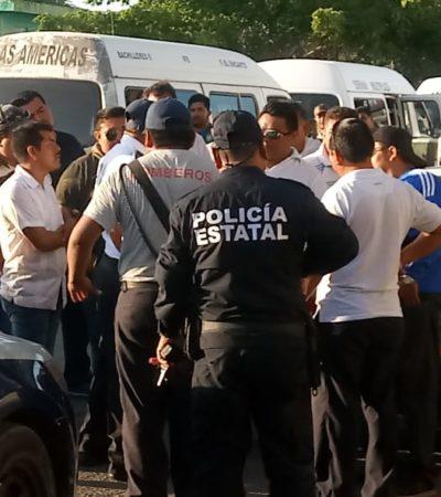 Conato de bronca entre chofer y bombero en Chetumal