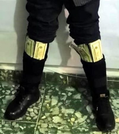 Cae exfuncionario municipal de Suchiate, Chiapas, con 100 mil dólares en efectivo pegados al cuerpo