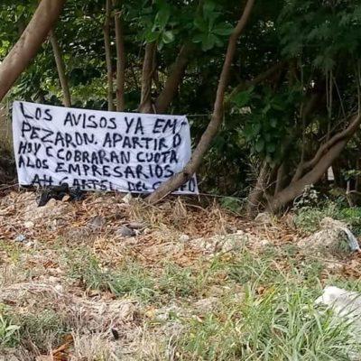 Piden empresarios intervención del Ejército ante aparición de narcomantas en Chetumal