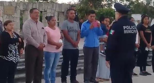 """""""ESTAMOS TRISTES, PERO VAMOS A FORTALECERNOS"""": Dan el último adiós a comandante asesinado en Playa; el Estado nos abandono en seguridad, reprocha Laura Beristain"""