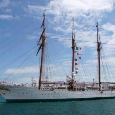 Atraca en Veracruz un buque escuela de la Armada española; es de los más grandes y antiguos del mundo