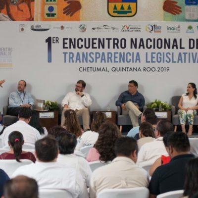 Organismos ciudadanos y sociedad civil, contrapeso para el poder, coinciden INAI y Congreso de Quintana Roo