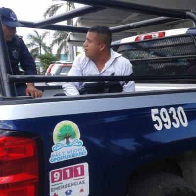 Atrapan a falso inspector de Fiscalización en plena extorsión en Cancún