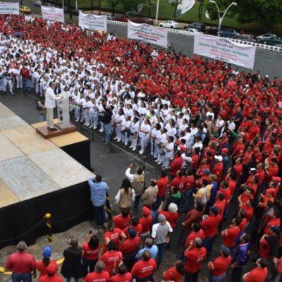 ESTERTORES DEL SINDICALISMO CHARRO: Líderes del sureste conmemoran por su cuenta la expropiación petrolera