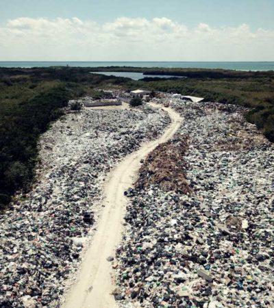 """Asegura Nivardo Mena que hay """"un gran avance"""" en la recolección de basura y limpieza del tiradero a cielo abierto en Holbox"""