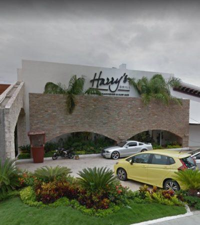 ROBO EN RESTAURANTE DE ZONA HOTELERA DE CANCÚN: Cuatro sujetos con armas de fuego se llevaron la caja fuerte y dinero en efectivo del restaurante Harry's