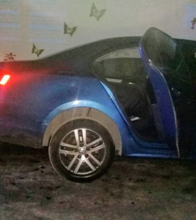 Incendian vehículo en la colonia Caribe de Chetumal