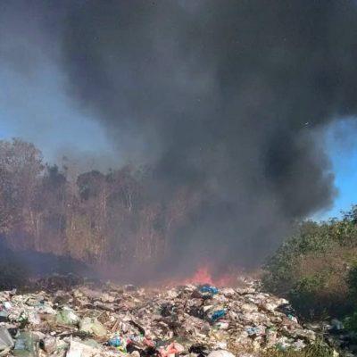 Se registra nuevo incendio en el relleno sanitario de Chetumal