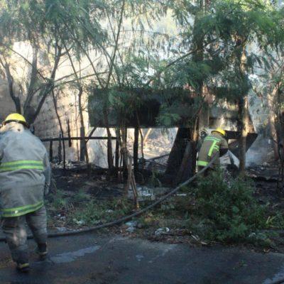 Por diversión incendian casa abandonada en Chetumal