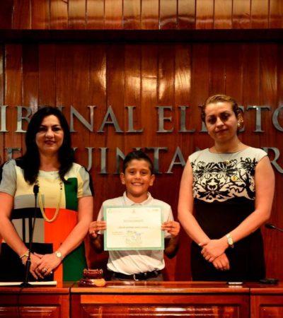 Representarán estudiantes de primaria a Quintana Roo en certamen de oratoria a efectuarse en la Sala Regional Xalapa del TEPJF