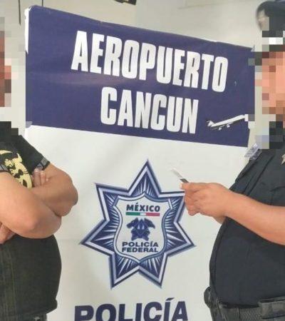 Detienen en el Aeropuerto de Cancún a un hombre con falsa identificación