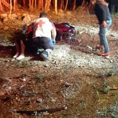 Sufre accidente y sale ileso en Tulum