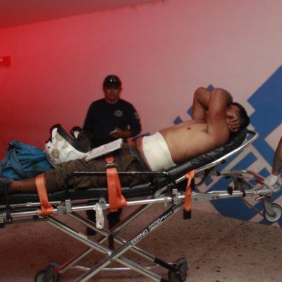 BALEAN A UN HOMBRE EN FIESTA EN XPU-HA: Sujeto quiso calmar una pelea y termina en el hospital
