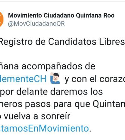 Estará líder nacional del Movimiento Ciudadano en registro de candidatos en Quintana Roo