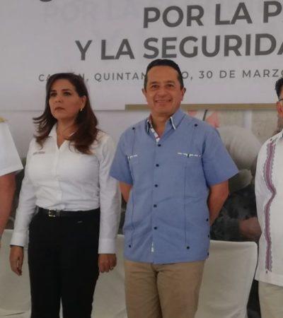 """""""CONTENTOS DE QUE NOS VEAN DE LA MANO"""": Asegura Mara Lezama que siguen trabajando para recuperar la paz, pese a cifras de inseguridad y violencia en Cancún"""
