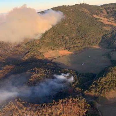 Prevén hoy controlar al 100% incendio forestal en Veracruz; la causa, una fogata descuidada
