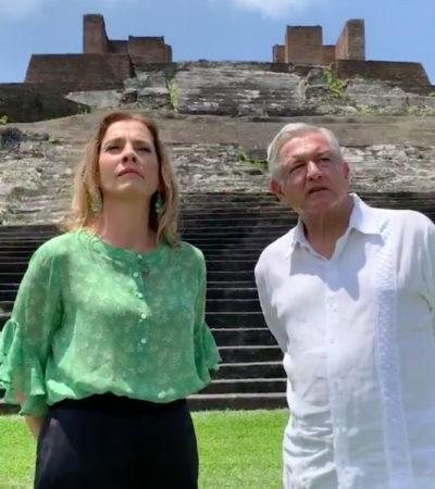 Asegura AMLO que carta a la Corona Española no fue iniciativa de su esposa Beatriz Gutiérrez Müller