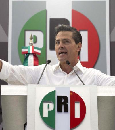 Piden expulsar a Peña del PRI por casos de corrupción que causaron la peor derrota de su historia en 2018