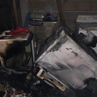 Se incendia casa en Tulum