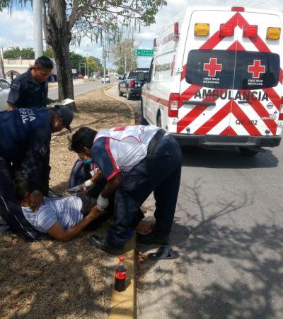 Rescatan a automovilista con infarto en Chetumal
