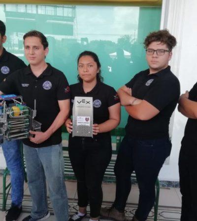 Universitarios cancunenses piden ayuda económica para acudir al Mundial de Robótica