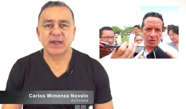 Tras recibir sentencia de 8 meses de cárcel por amenazas a un periodista, el empresario Carlos Mimenza se dice 'perseguido político' y se declara 'periodista independiente'   VIDEO