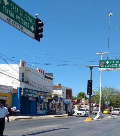 Corta CFE servicio de energía eléctrica a algunos semáforos en Campeche por falta de pago