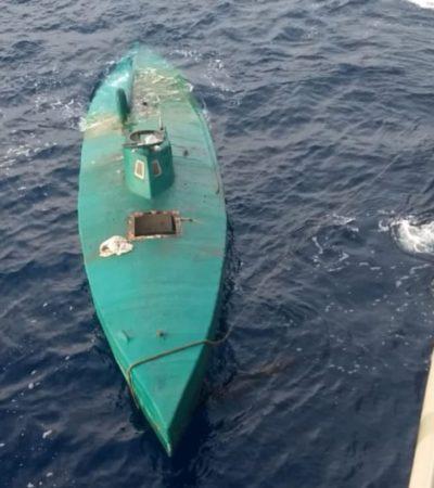 Asegura la Marina un semisurmergible y presunta carga ilícita en Chiapas, aunque no hay detenidos