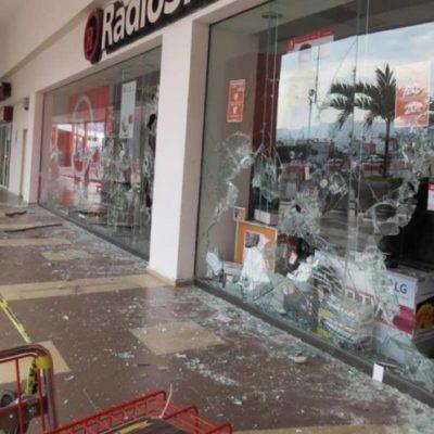Vandalizan terminal de autobuses tras ser desalojados de predio invadido en Chiapas
