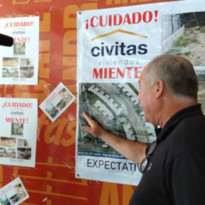 Habitantes de Veredas del Puerto denuncian a la desarrolladora Civitas por fraude