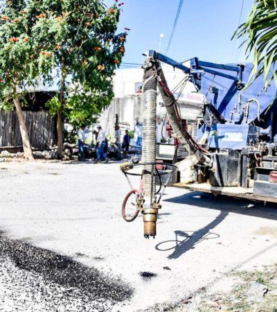 En su etapa final repavimentación de calles en Tulum;anuncian bacheo en Akumal y Chemuyil