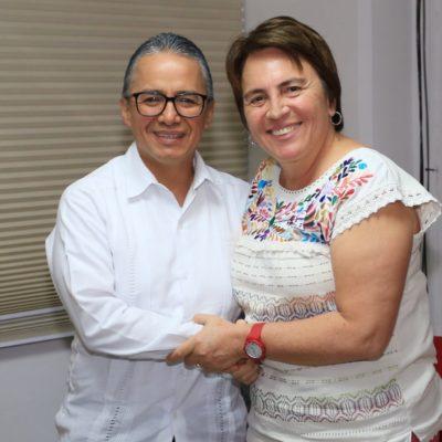 Sostiene reunión de trabajo Alcaldesa de Solidaridad con Fiscal General del Estado