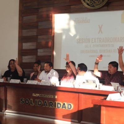 APRUEBAN NUEVA ESTRUCTURA DE GOBIERNO EN SOLIDARIDAD: Actualiza Cabildo Reglamento Orgánico de la Administración Pública
