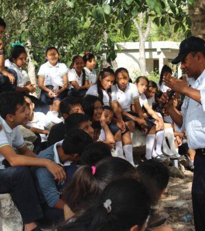 Imparten policías pláticas de educación vial en Nuevo Noh Bec