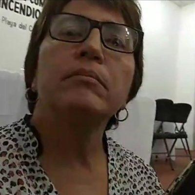 """""""NO HAY ALZA DE INSEGURIDAD"""": Laura Beristain recomienda nuevamente a los medios 'tener cuidado' con la información sobre violencia y habla sobre renuncia de mando policiaco por supuestas amenazas"""