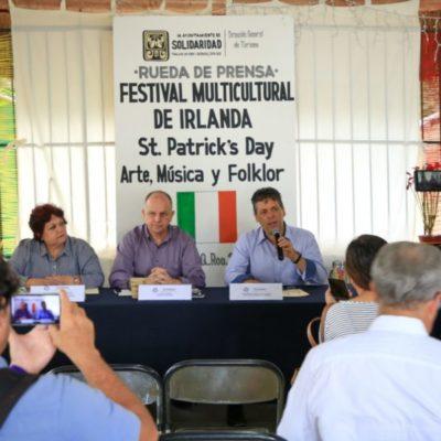 Anuncian Gobierno de Solidaridad y Consulado de Irlanda festejos a San Patricio