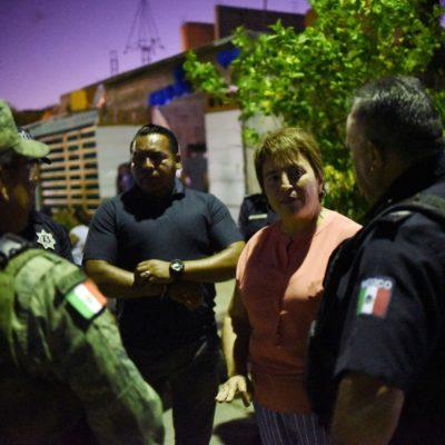 Realiza Laura Beristain recorrido por Villas del Sol con policía municipal y fuerzas federales