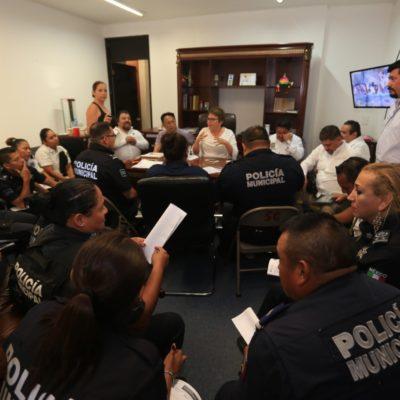 En reunión con policías, Alcaldesa da garantías de que se atenderán reclamos laborales para dignificar el trabajo de la corporación en Solidaridad