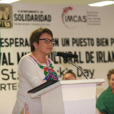 Celebra Laura Beristain el Día de San Patricio en Playa del Carmen en compañía de la Embajadora de Irlanda