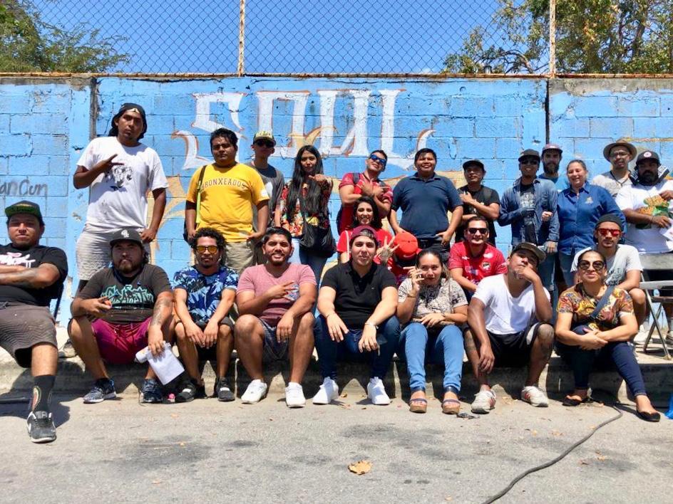 Artistas urbanos participan en el Festival 'Soul Rebel' y cambian la imagen del Poliforum