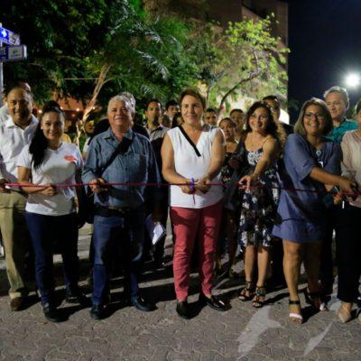Con inversión de 10 mdp, inauguran pavimentación con adocreto de la Calle Flamingo en la zona turística de Playa del Carmen