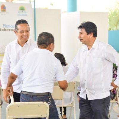 Recibe Tulum el programa 'Platícale Al Gobernador' y Alcalde Víctor Mas Tah dice que se encuentran soluciones a problemas de la gente