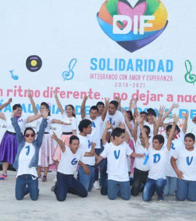 CONMEMORAN EL DÍA MUNDIAL DEL SÍNDROME DE DOWN: Atienden en Solidaridad a 38 niños con discapacidad intelectual, visual y auditiva