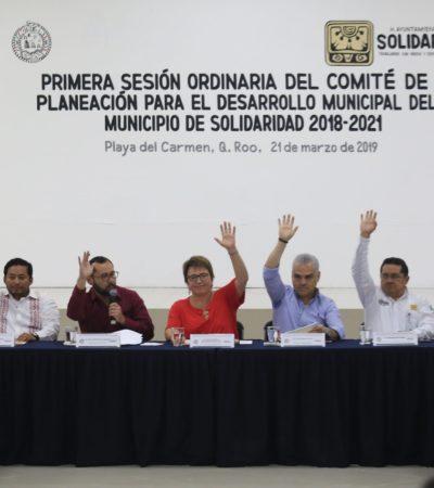 Aprueban en Solidaridad histórica inversión en el Programa Operativo Anual 2019