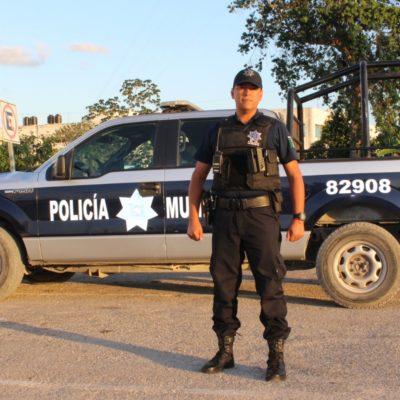 El Teniente de Infantería, Baltazar Díaz Acosta, sustituto de Siddley Javier Loeza al frente de la Policía Municipal Preventiva de Solidaridad, con 20 años de experiencia