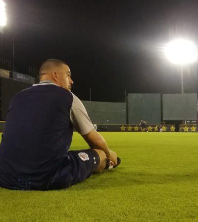TIGRES PISA EL BETO ÁVILA: Luego de los juegos de exhibición del fin de semana, el equipo de bengala entrenó por primera vez en su estadio, donde este jueves recibirán a los Leones de Yucatán, en duelo a beneficio del CRIT