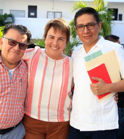 Se reúne Laura Beristaín con subsecretario de Sedatu y Arturo Abreu y acuerdan trabajo coordinado entre los tres niveles de gobierno en Solidaridad