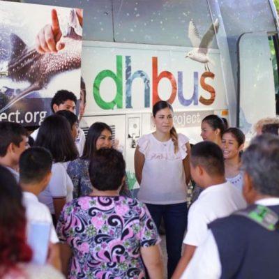 DH Bus mantiene visitas a la zona maya y colonias vulnerables de Solidaridad para impartir talleres sobre sostenibilidad, derechos humanos y educación financiera