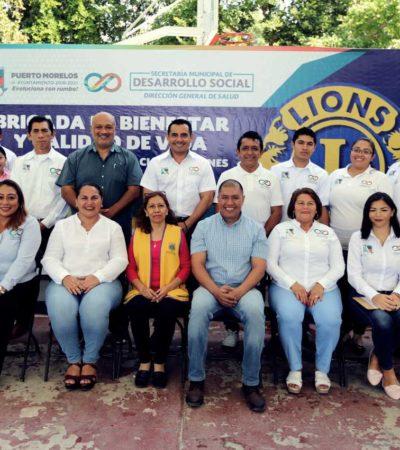 En alianza con el Club de Leones Cancún Turquesa A. C., ofrecen en Puerto Morelos consultas médicas, exámenes de la vista y cortes de cabello gratuitos; además de medicamentos con un 50% de descuento